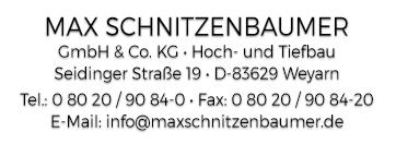 Max Schnitzenbaumer GmbH & Co. KG Hoch- und Tiefbau Weyarn